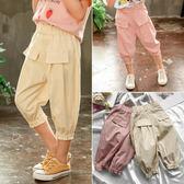 女童褲 女寶寶休閒褲夏裝兒童韓版七分褲3-7歲女童洋氣時髦褲子 寶貝計畫
