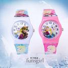 冰雪奇緣Elsa兒童手錶PVC錶帶卡通錶2色~funsgirl芳子時尚