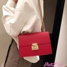 高級感包包洋氣女包2021新款潮韓版百搭簡約時尚chic鍊條斜背小包 JUST M