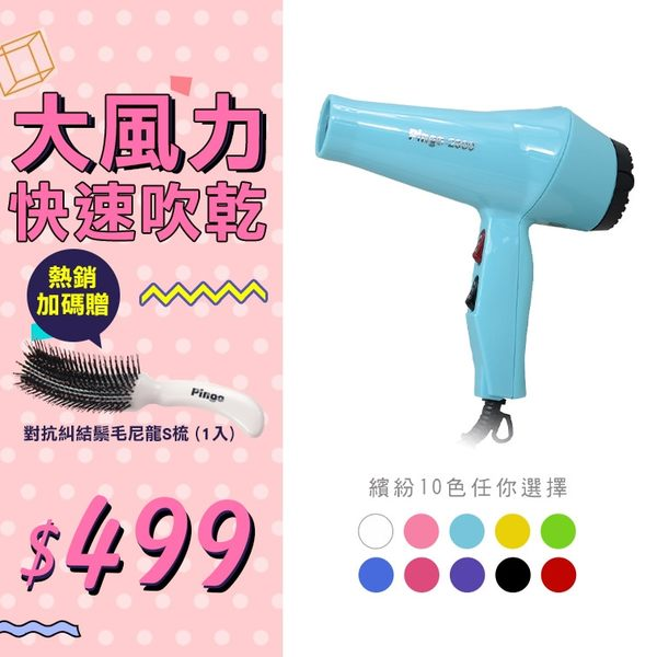 pingo 品工 全新二代 Pingo-2800 沙龍專用 專業經典款美髮沙龍吹風機【HAiR美髮網】
