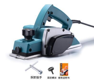 手提電刨木工刨 家用多功能電刨子壓刨機 木工工具電動工具igo     易家樂