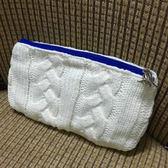 sisley 白色編織手拿化妝包-f000072