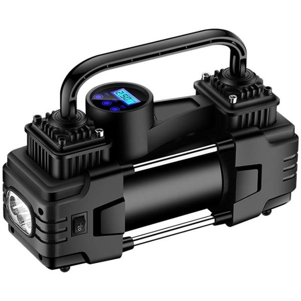 車載充氣泵小轎車便攜式汽車用輪胎大功率雙缸電動打氣泵12V車用 青木鋪子「快速出貨」