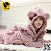 兒童睡衣 兒童家居服套裝5珊瑚絨女童裝9長袖冬季12女孩法蘭絨加厚睡衣15歲 印象部落