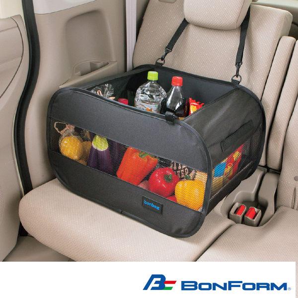 日本【BONFORM】大容量網眼收納袋B7525-52  車用椅後置物袋 掛式收納袋 衛生紙面紙袋