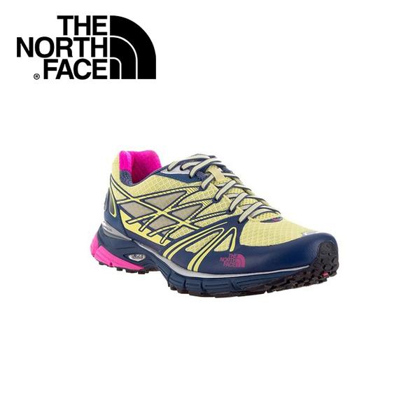 【The North Face 女 越野跑鞋《戚風黃/軍旗藍》】CXX7/健行/運動