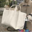帆布包 新款韓國東大門簡約大容量帆布大包購物袋包手提側背女包寶貝計畫 上新