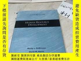 二手書博民逛書店HUMAN罕見RESOURCE DEVELOPMENT 英文原版Y182979 HUMAN RESOURCE