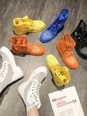 馬丁靴夏季透氣新款靴子女夏韓版百搭網靴鏤空帶跟短靴