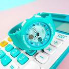 Baby-G CASIO / BGA-250-2A / 卡西歐 指針數位雙顯 霓虹燈光 碼錶 世界時間 防水100米 橡膠手錶 湖水色 42mm
