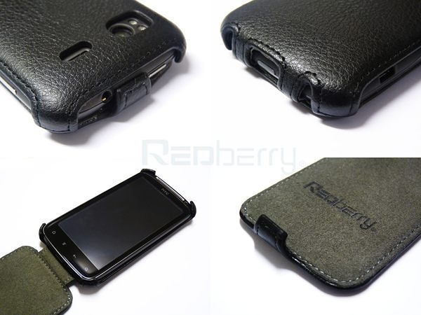 HTC Sensation 感動機 時尚荔枝紋 下掀式皮套◆贈送! 專用型韓風閃亮亮晶鑽套◆