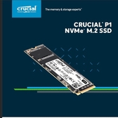 Micron Crucial P1 2TB SSD PCIe NVMe 固態硬碟