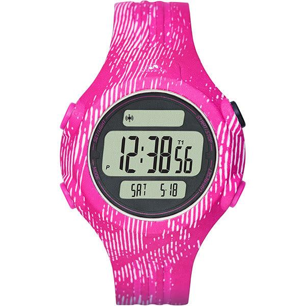 adidas 愛迪達 運動印制紋風電子腕錶/手錶-粉紅/42mm ADP3187