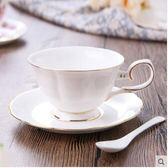 歐式套裝創意骨瓷咖啡陶瓷杯碟勺拍送勺子SMY511【123休閒館】