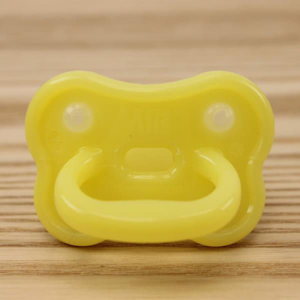 【愛的世界】Mii Organics 安撫矯正矽膠奶嘴2入裝-黃 ★用品推薦