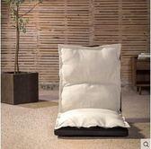 懶人沙發 休閒折疊懶人沙發單人家用榻榻米靠背椅子地板臥室陽台躺椅 igo  綠光森林