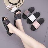 chic港風拖鞋女夏外穿新款時尚網紅涼拖平底沙灘鞋女厚底鞋子 時尚芭莎