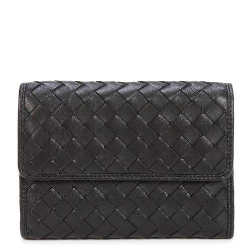 crocodile鱷魚  原皮奢華編織三摺式中夾0103-60081