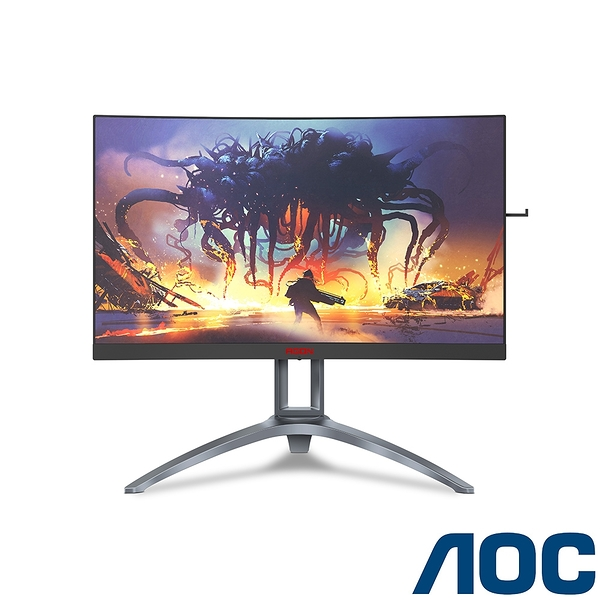 AOC AGON 27吋2K專業曲面電競螢幕(AG273QCX2)【刷卡分期價】