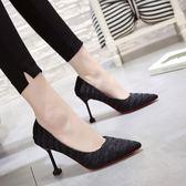 韓版時尚高跟鞋尖頭單鞋職業百搭女鞋百搭學生氣質