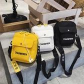 韓國兒童帆布包包男女孩斜背包潮酷手機單肩包【聚寶屋】
