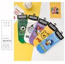 《花花創意会社》日本。迪士尼冰絲棉低筒襪獨家拼接設計超可愛 五款【H7198】