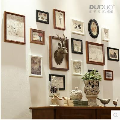 原創實木照片牆 歐式創意組合相框客廳餐廳臥室16
