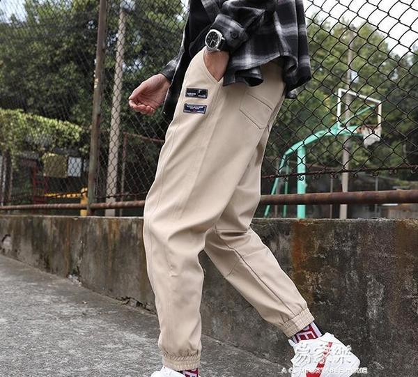 褲子男士韓版潮流夏季潮牌百搭寬鬆薄款九分運動褲 易家樂