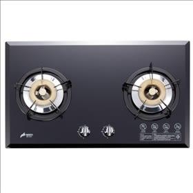 【歐雅系統家具廚具】豪山 HOSUN SB-2183(黑/白) 雙口玻璃鏡面檯面式瓦斯爐