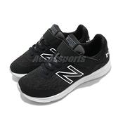 New Balance 慢跑鞋 Premus Wide 寬楦 黑 白 童鞋 中童鞋 女鞋 魔鬼氈 運動鞋【ACS】 YOPREMCKW