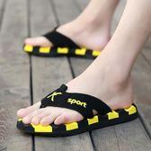 夏季人字拖男士個性外穿沙灘鞋子夏天室外軟底防滑涼拖鞋男潮時尚
