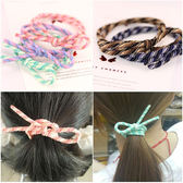 高彈力配色螺旋蝴蝶結髮圈 乙入 隨機出貨不挑款/色◆86小舖◆