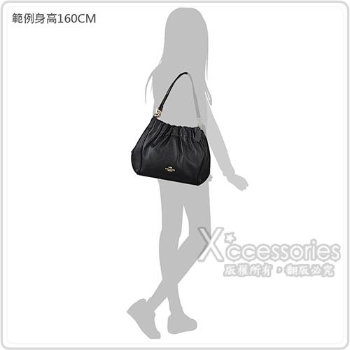 COACH MAYA金/銀字馬車LOGO牛皮釦式肩背包(兩色)