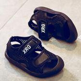 夏季防滑小童童鞋夏女童沙灘鞋男童包頭涼鞋