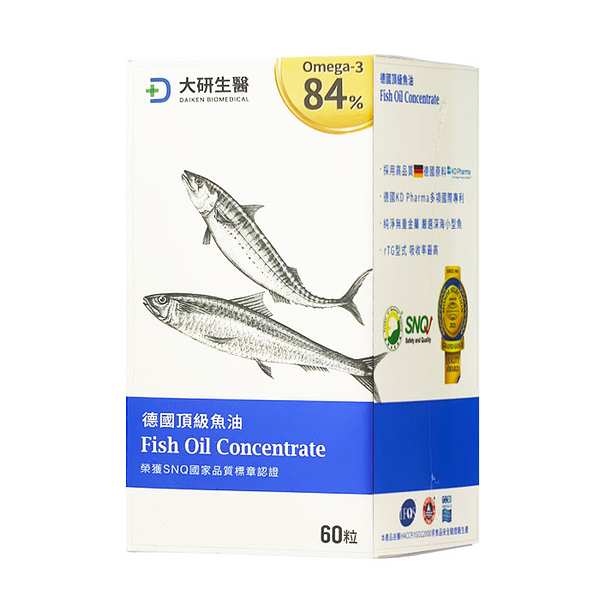 大研生醫 德國頂級魚油 60粒/盒