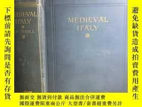 二手書博民逛書店Medieval罕見Italy 1915 插圖本 毛邊 22*1