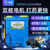 電動噴霧器背負式雙泵高壓12v多功能鋰電池農用果樹打農藥機 小艾時尚NMS