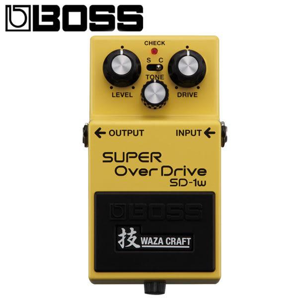【非凡樂器】BOSS SD-1W Waza Craft系列效果器 Super OverDrive