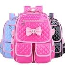 韓版小學生書包1-3-5-6年級兒童女生8-12周歲PU皮防水減負後背包 美芭
