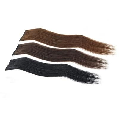 假髮(真髮)-直髮3夾40cm加厚女假髮3色73uh29【時尚巴黎】
