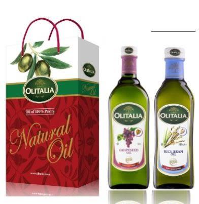 《Olitalia》奧利塔葡萄籽油+玄米油禮盒組(500ml各1)