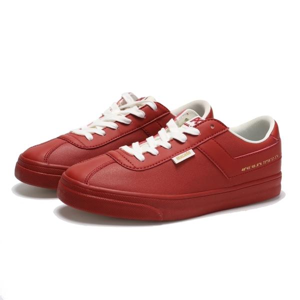 PONY 休閒鞋 紅色 板鞋 皮革 女 (布魯克林) 84W1MC01RR