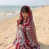 絲巾女夏季海邊旅游拍照防曬披肩圍巾兩用沙灘巾超大百搭海灘紗巾【明天恢復原價】