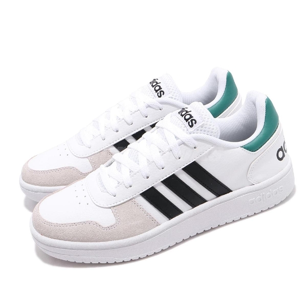adidas 休閒鞋 Hoops 2.0 白 黑 男鞋 運動鞋 【PUMP306】 EE7799