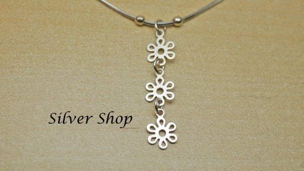 ╭☆ Silver shop ☆╯純銀 S925 套鍊 素銀 [ snn 012 ]