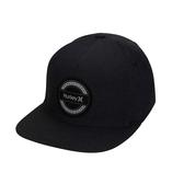 Hurley M DF HURRICANE PATCH HAT BLACK 棒球帽-(黑)
