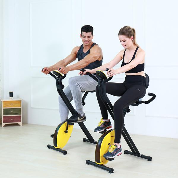 免安裝 室內折疊腳踏車超大座墊美腿機器材自行車跑步機踏步機臥式車xw【快速出貨】