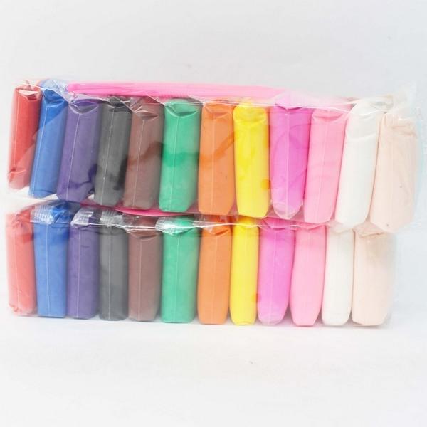 超輕粘土 5D輕輕泥 12色入/一袋12色入(定50) 超輕黏土 附工具 DIY材料-AA6514