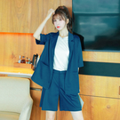 職業套裝~西裝套裝女薄款西服外套顯瘦中褲...