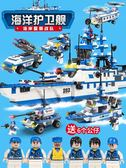 積木拼裝玩具益智8-10歲男孩子6-7組裝航母智力模型12【快速出貨】